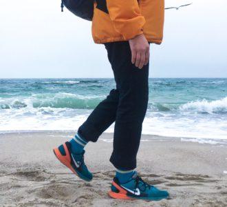 Морская волна гетры с беж полосками
