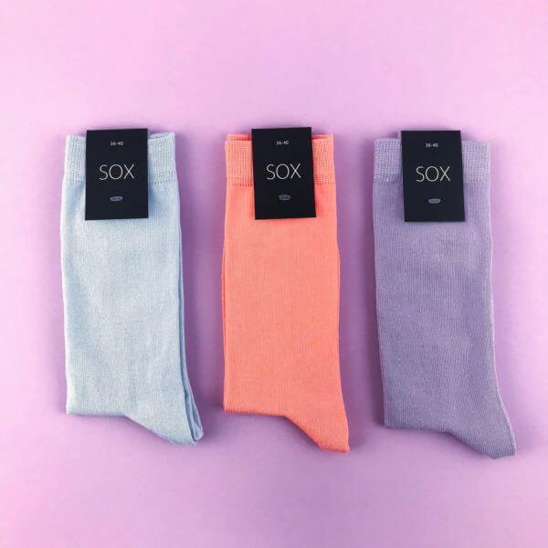 Набор однотонных носков 36-40