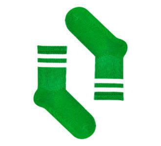 Зеленые с белыми полосками