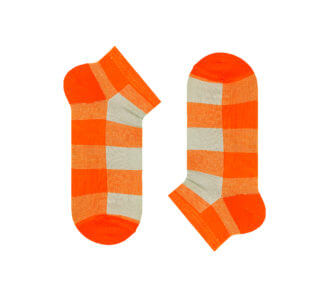 Grey-orange tartan