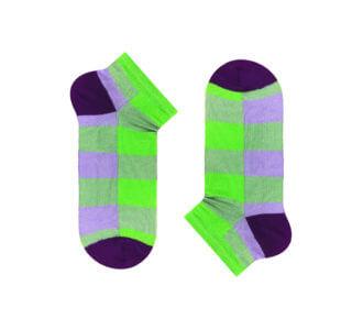 Lime-violet tartan
